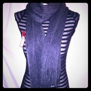 Dark gray Cashmere/cotton scarf